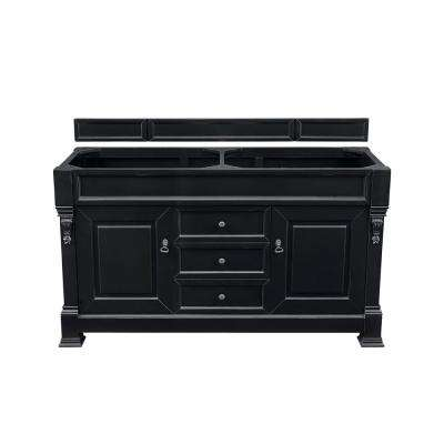 Brookfield 60 in. W Bathroom Double Vanity Cabinet Only in Antique Black
