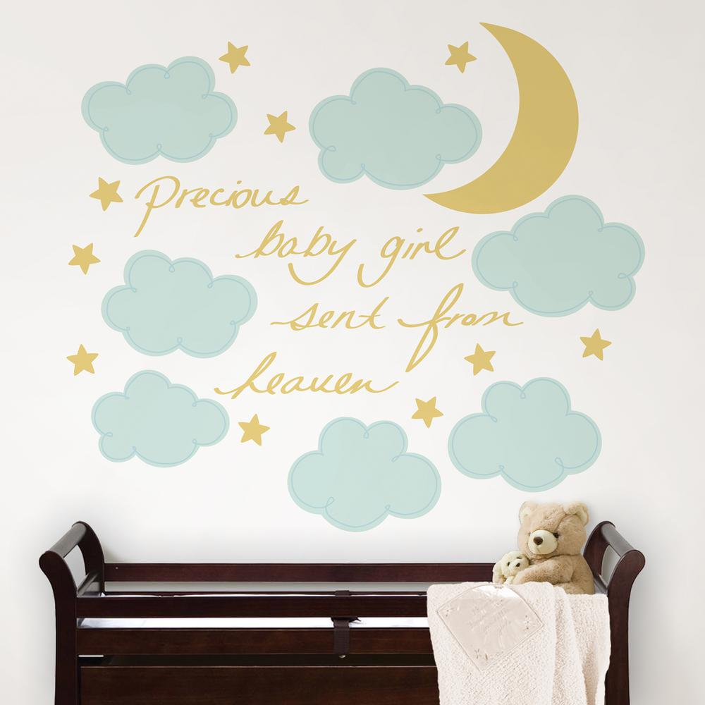 Walltastic blue pirate wall stickers wt45002 the home depot blue sent from heaven wall decal amipublicfo Gallery