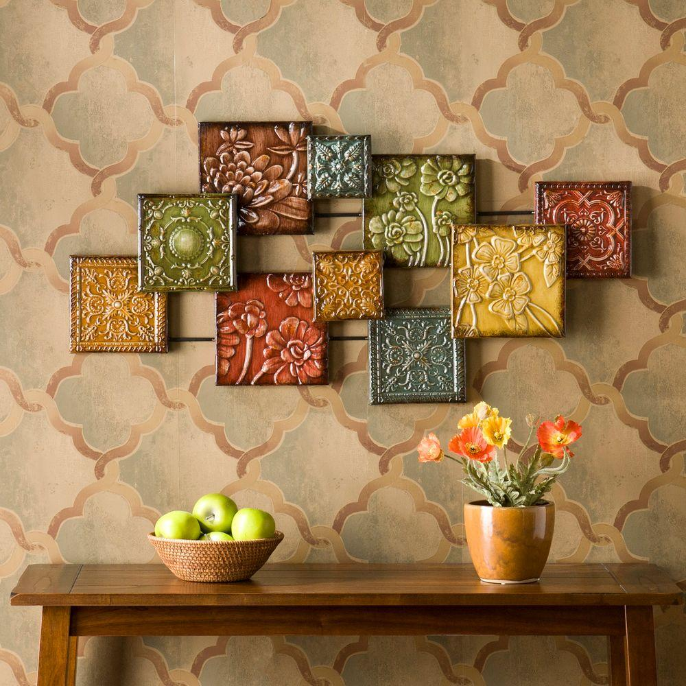 Southern Enterprises 41-1/2 in. W x 20-3/4 in. H Bijou Metal Wall Sculpture-WS9373 - The Home Depot & Southern Enterprises 41-1/2 in. W x 20-3/4 in. H Bijou Metal Wall ...