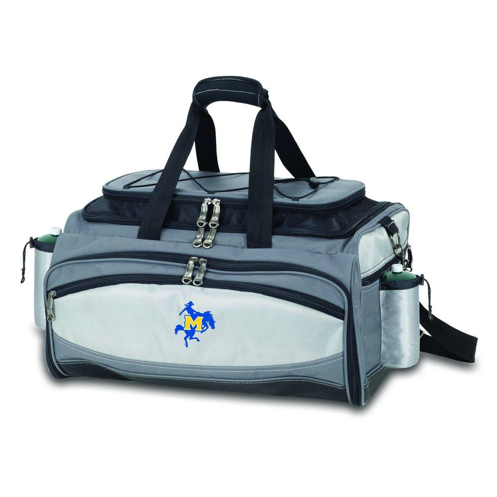 Picnic Time Vulcan McNeese State Tailgating Cooler and Propane Gas Grill Kit with Embroidered Logo