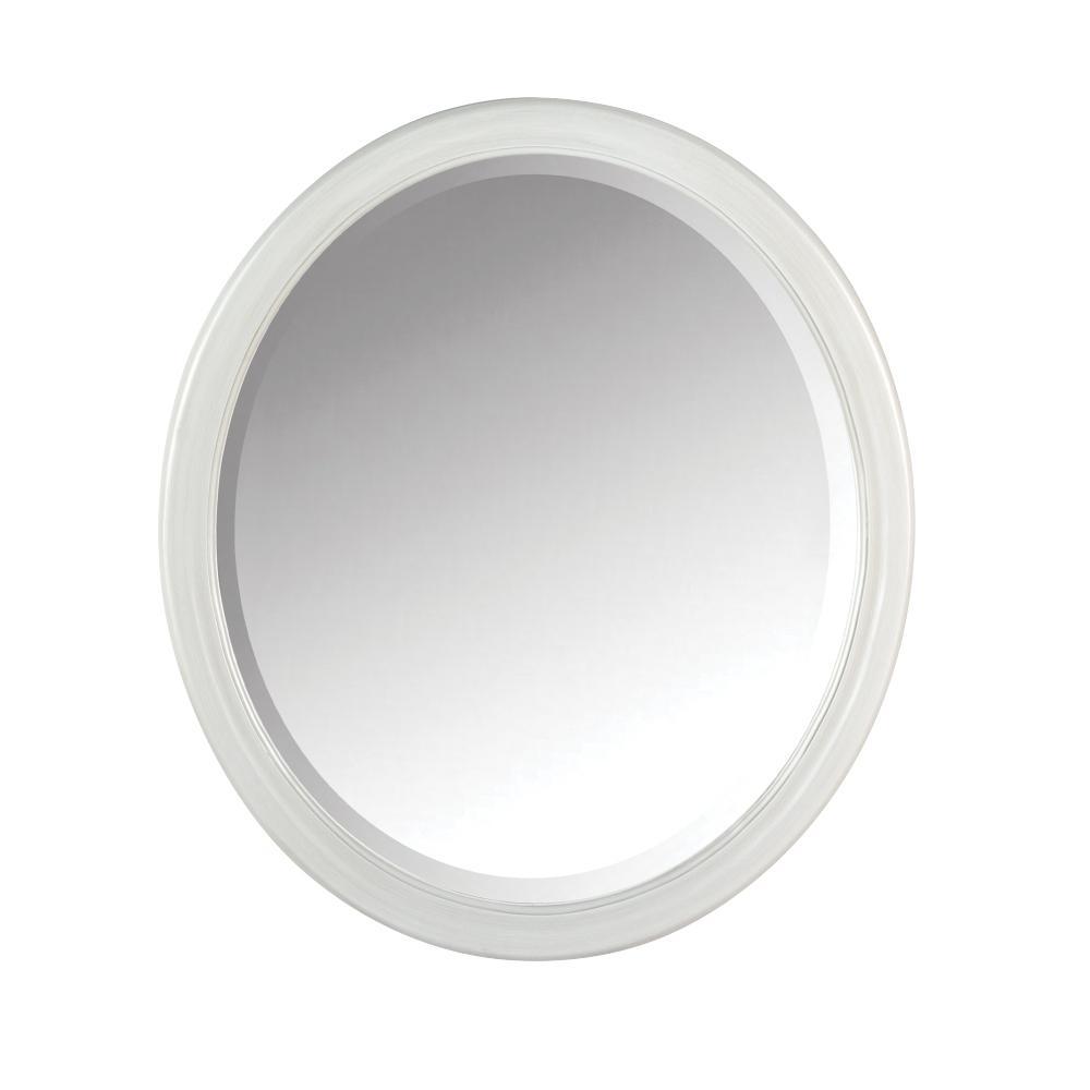 Newport 32 in. H x 28 in. W Framed Wall Mirror