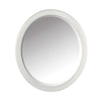 Newport 32 in. H x 28 in. W Framed Wall Mirror in Pewter
