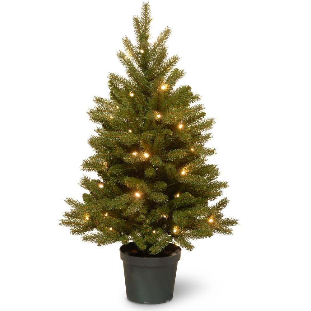 3 foot christmas tree with lights pine national tree company ft jersey fraser fir artificial christmas with battery operated warm white led lightspejf130630b the home depot