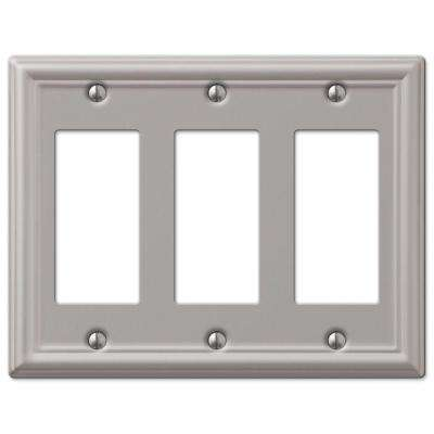 Chelsea 3 Decora Wall Plate - Nickel