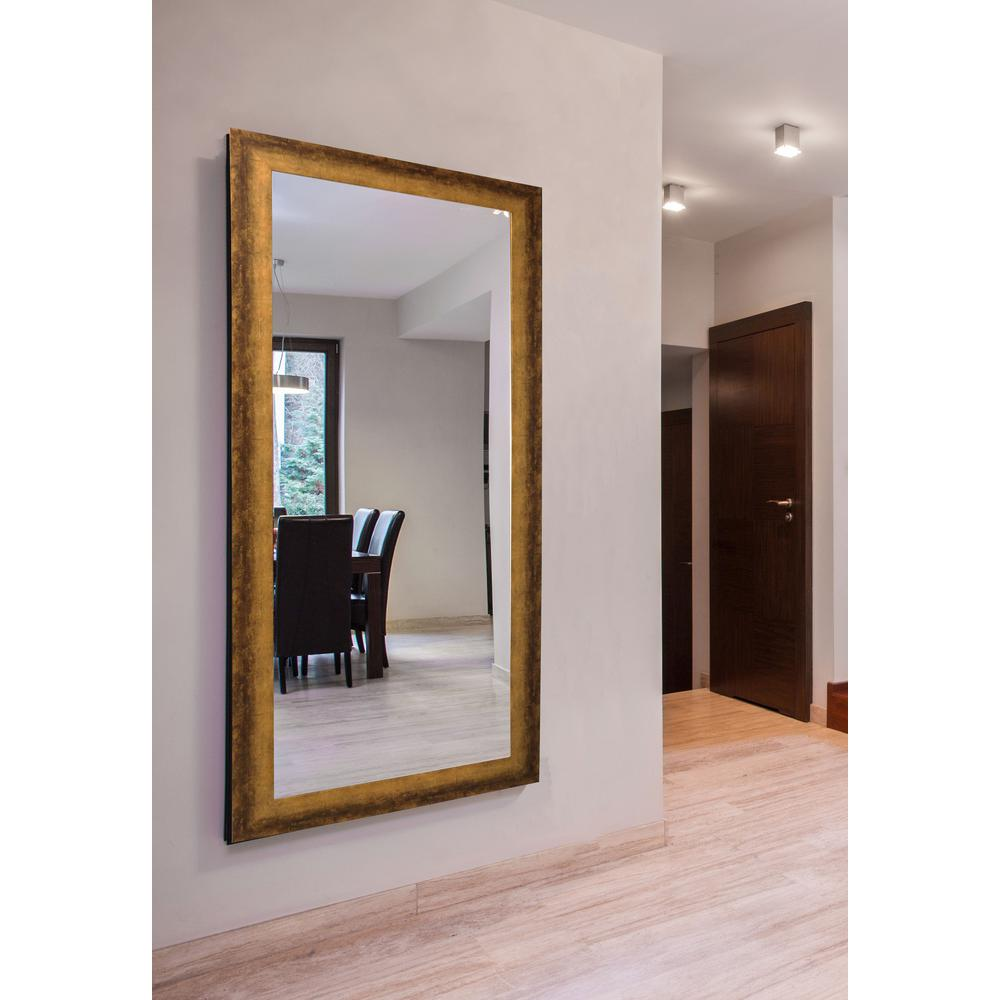 72 In X 39 In Extra Large Tarnished Bronze Vanity Mirror
