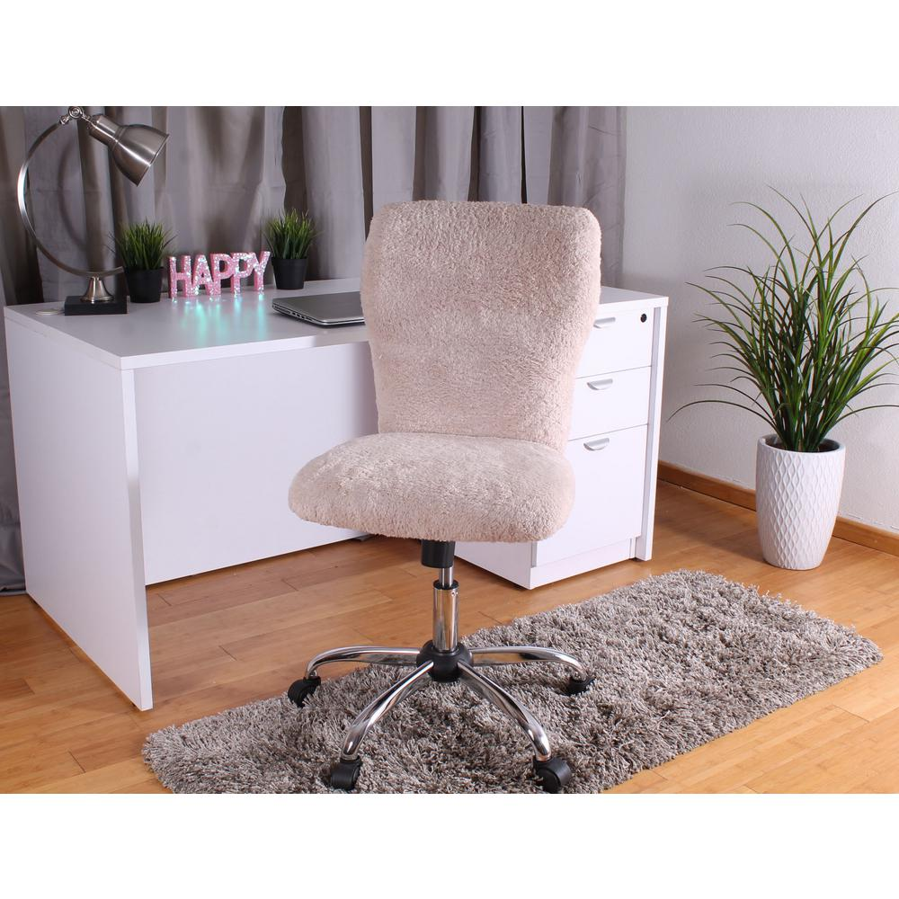 new products c466c c4eef Boss Furry Cream Tiffany Chair B220-FCRM - The Home Depot