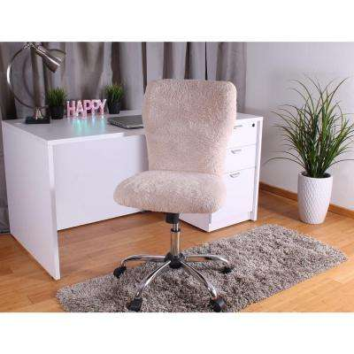 Furry Cream Tiffany Chair