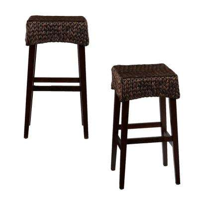 Hester 26.5 in. Brown Bar Stool (Set of 2)