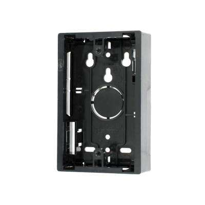 1-Gang 1.45 in. Box Depth Surface Mount Back Box, Black