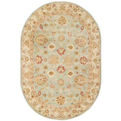 Antiquity Grey Blue/Beige 7 ft. 6 in. x 9 ft. 6 in. Oval Area Rug