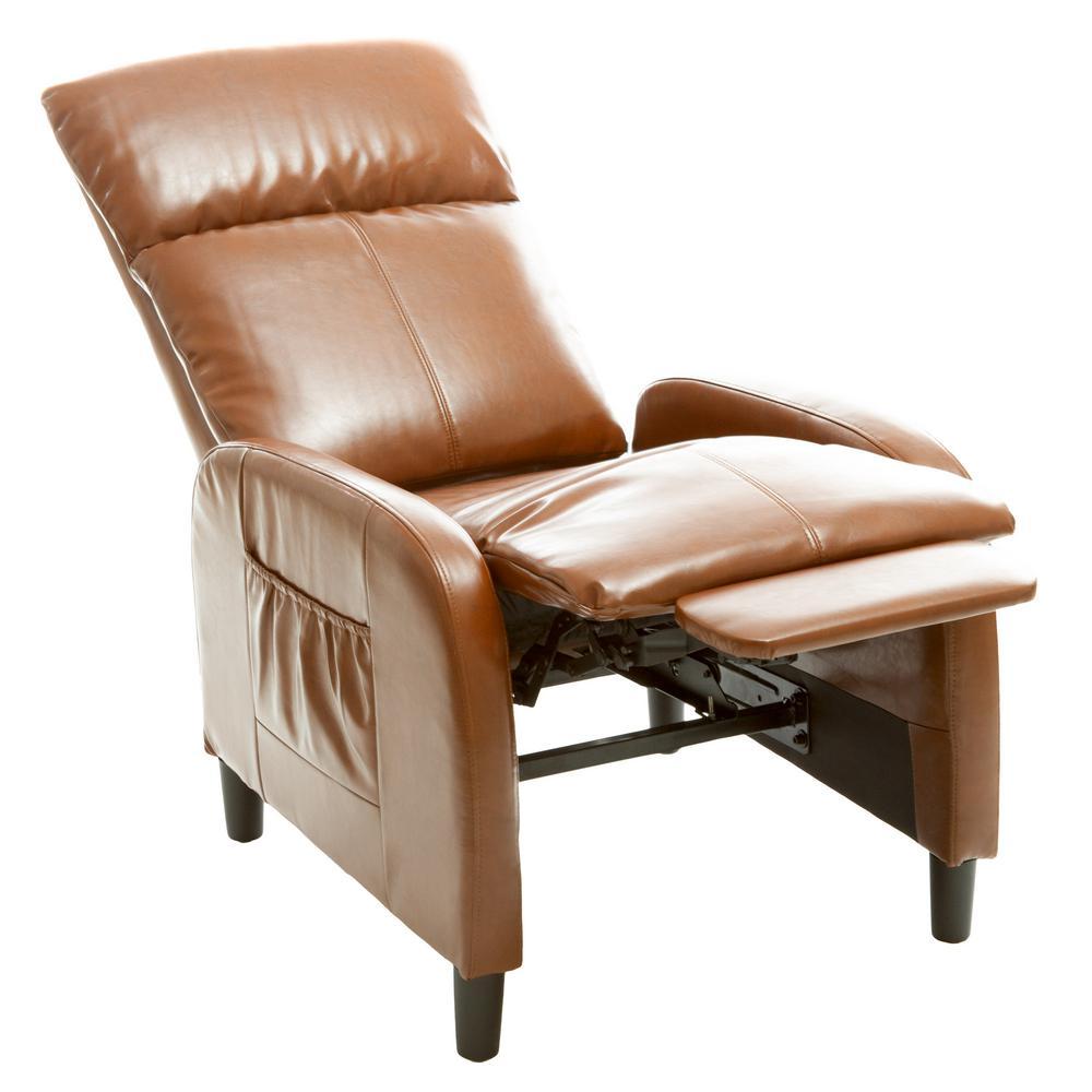 Stratton Hazelnut Bonded Leather Recliner