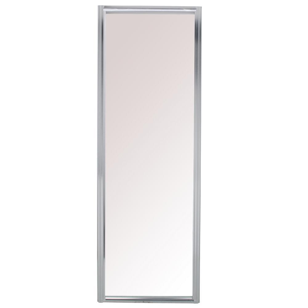 Swan 38 In X 70 In Neo Angle Framed Pivot Shower Door In Chrome