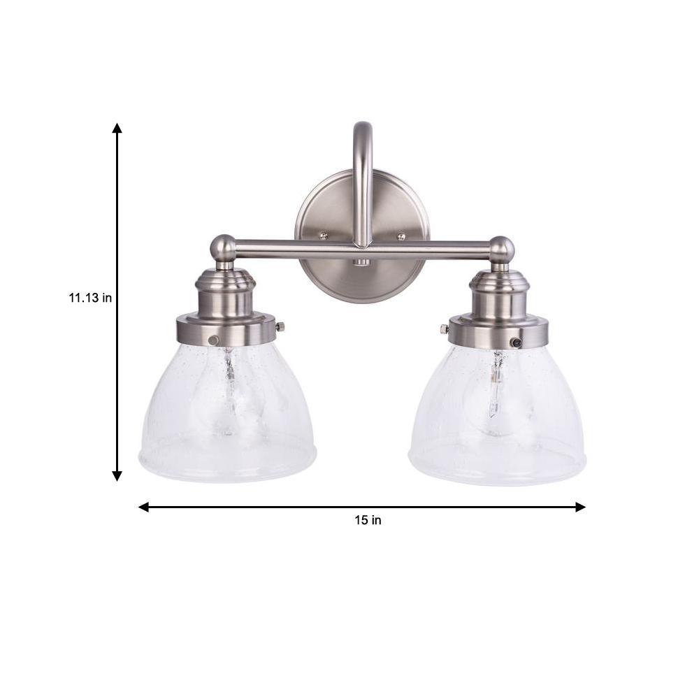 2 Light Brushed Nickel Vanity