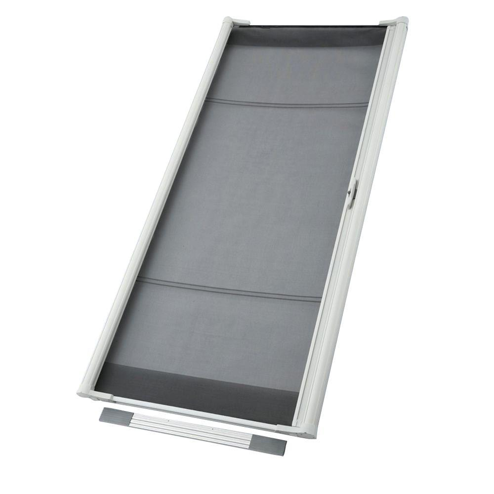 odl 36 in x 80 in brisa white standard retractable screen door