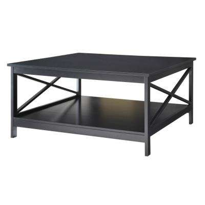 Oxford 36 in. Square Black Coffee Table