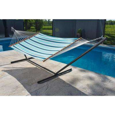 13 ft. Sunbrella Quilted Reversible Double Hammock in Token Surfside