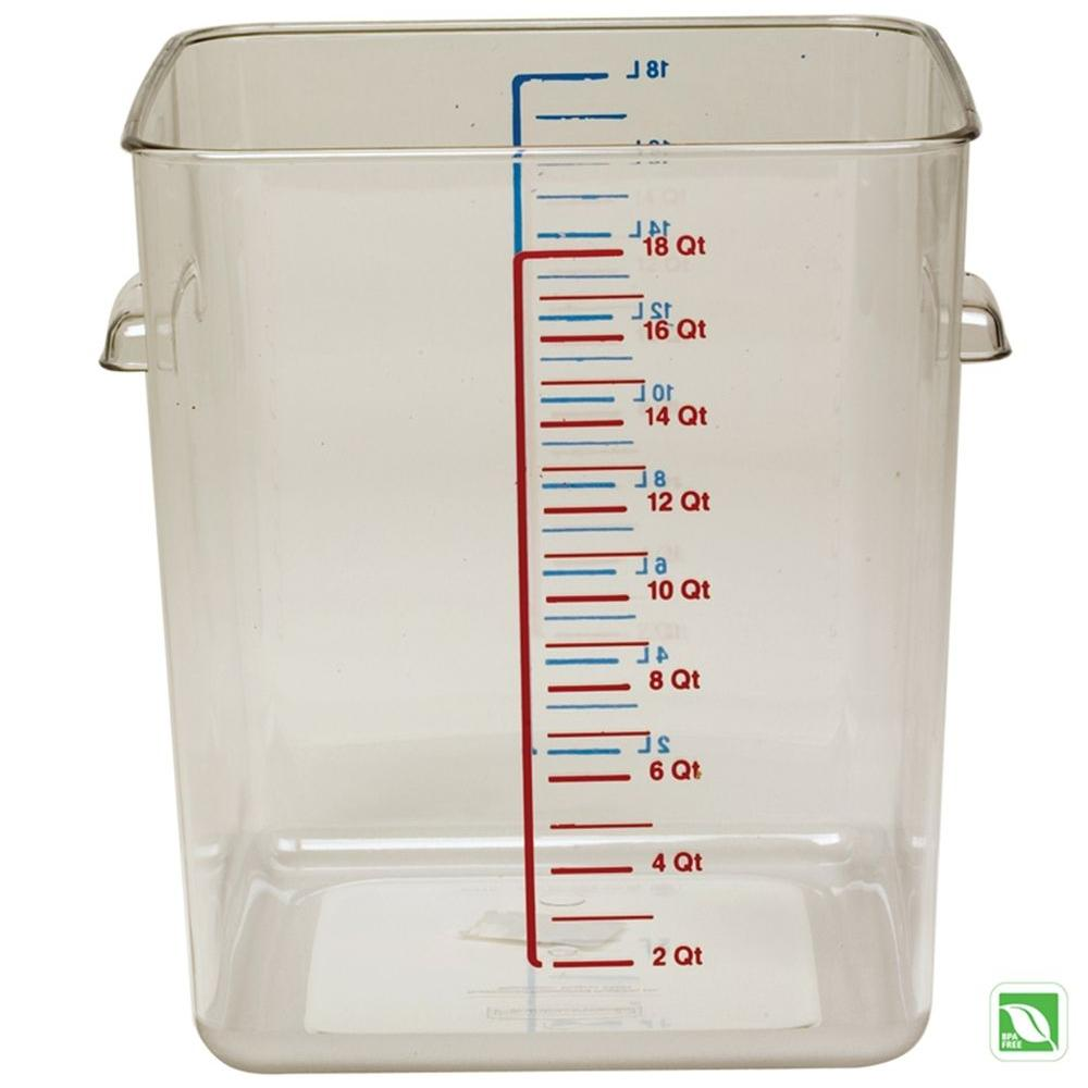 Rubbermaid Commercial Products Space Saving Square Container Clear