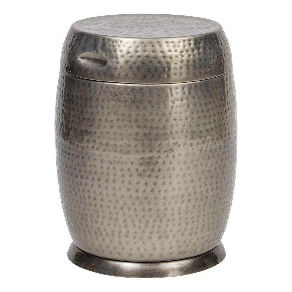 Silver Madras Drum Patio Side Table