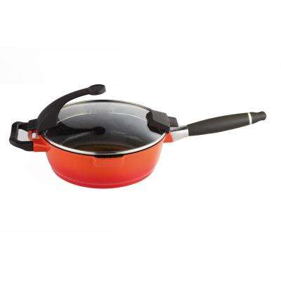 Virgo Cast Aluminum Non-Stick Covered Orange 10 in. Skillet