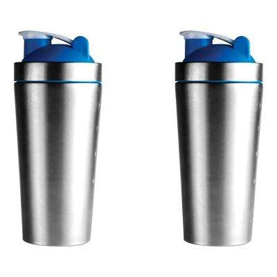 2-Piece Blue 30 oz. Shake It Baby Workout Bottle Set