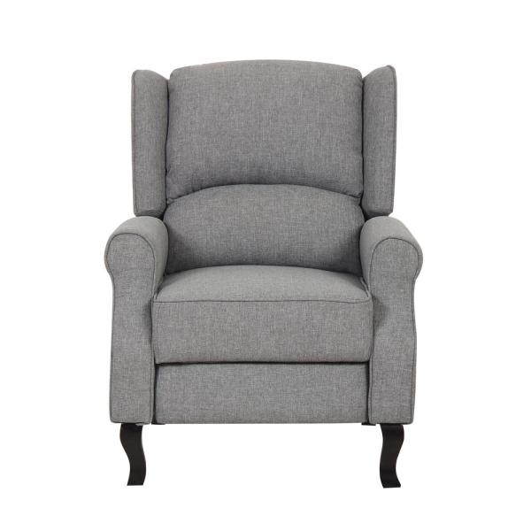 Gray Modern Wingback Recliner Chair