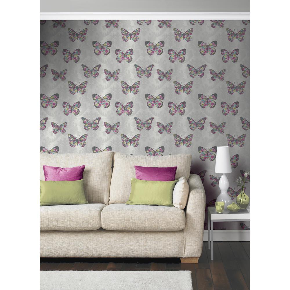 Midsummer Dove Multi Un-Pasted Wallpaper