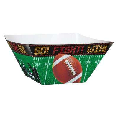 10.5 in. x 5 in. Football Field Paper Snack Bowls