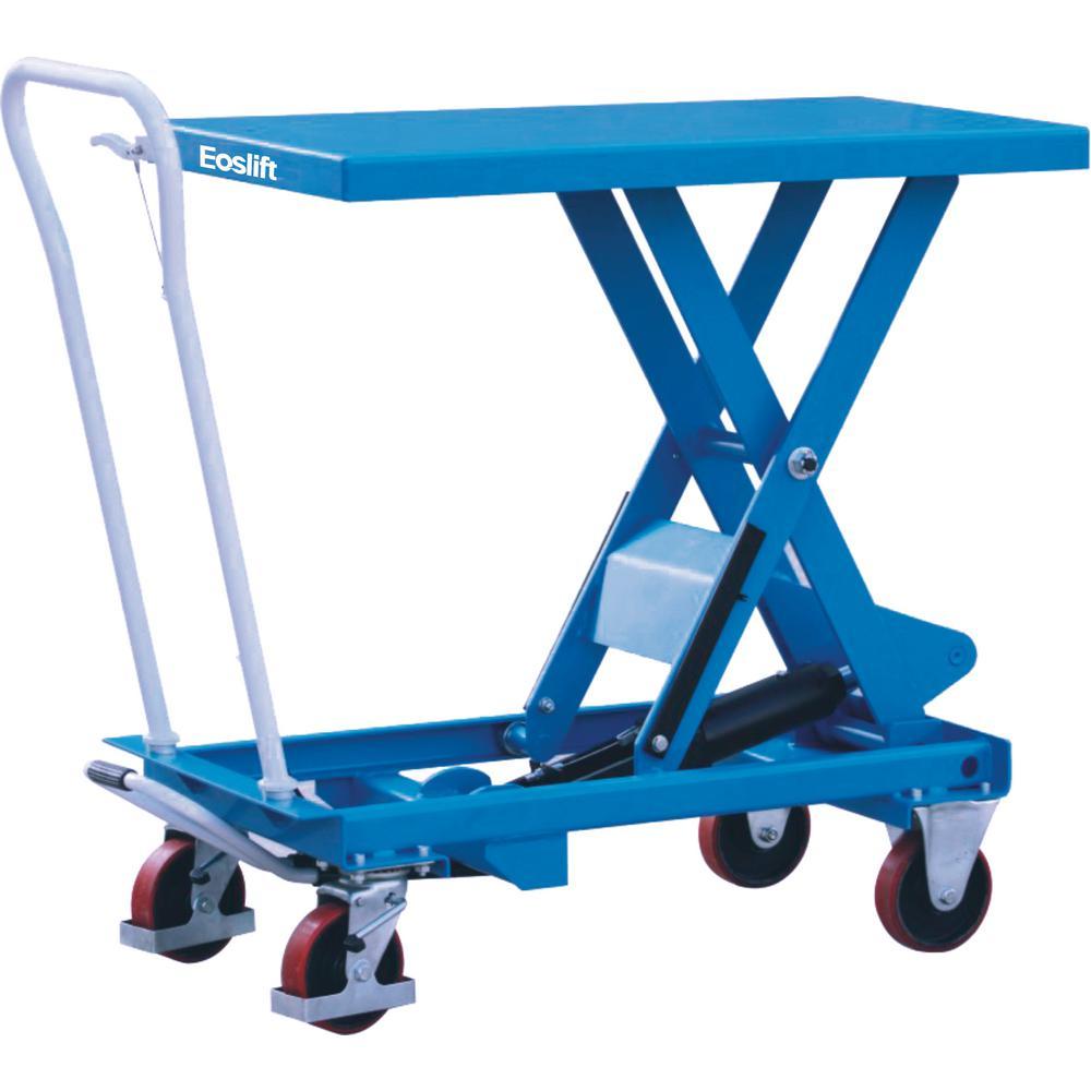 Eoslift 1100 lbs. 17.7 inch x 27.6 inch Scissor Lift Table Cart by Eoslift