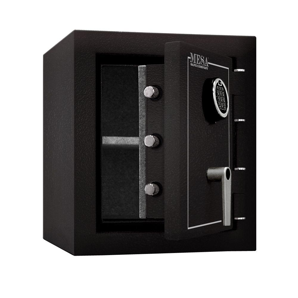 MESA 1.7 cu. ft. All Steel Burglary and Fire Safe with Electronic Lock, Hammered Grey