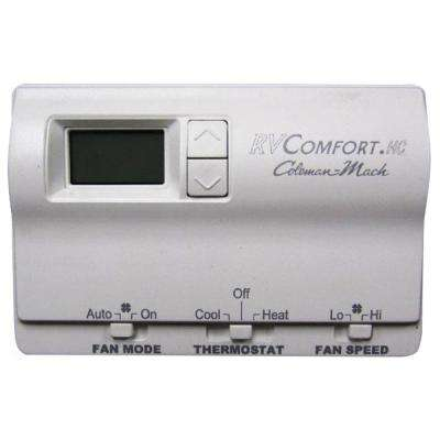 T-Stat Wall Digital Heat/Cool White Single Stage