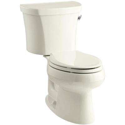 Wellworth 14 in. Rough-In 2-piece 1.28 GPF Single Flush Elongated Toilet in Biscuit