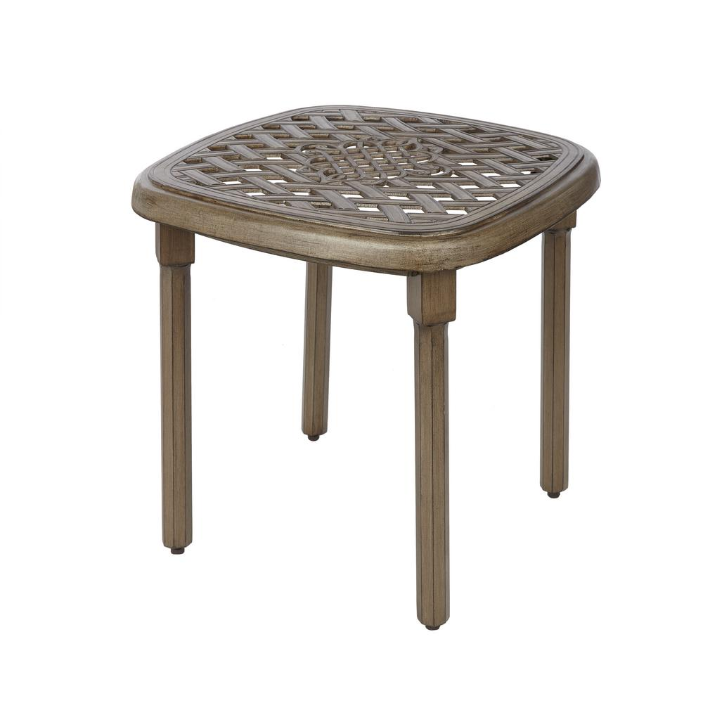 Cast Aluminum Outdoor Side Tables Patio Tables The Home Depot