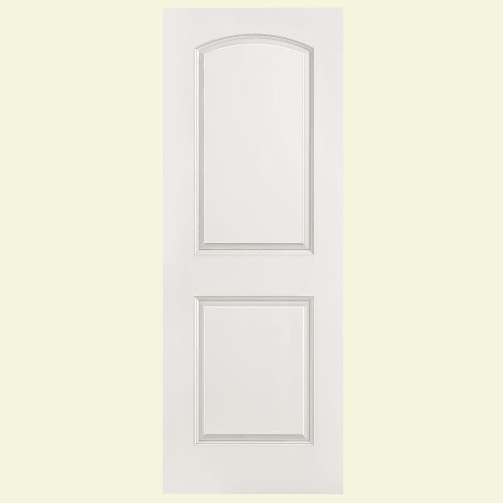 Masonite 28 In X 80 In Solidoor Roman Smooth 2 Panel Round Top Solid Core Primed Composite