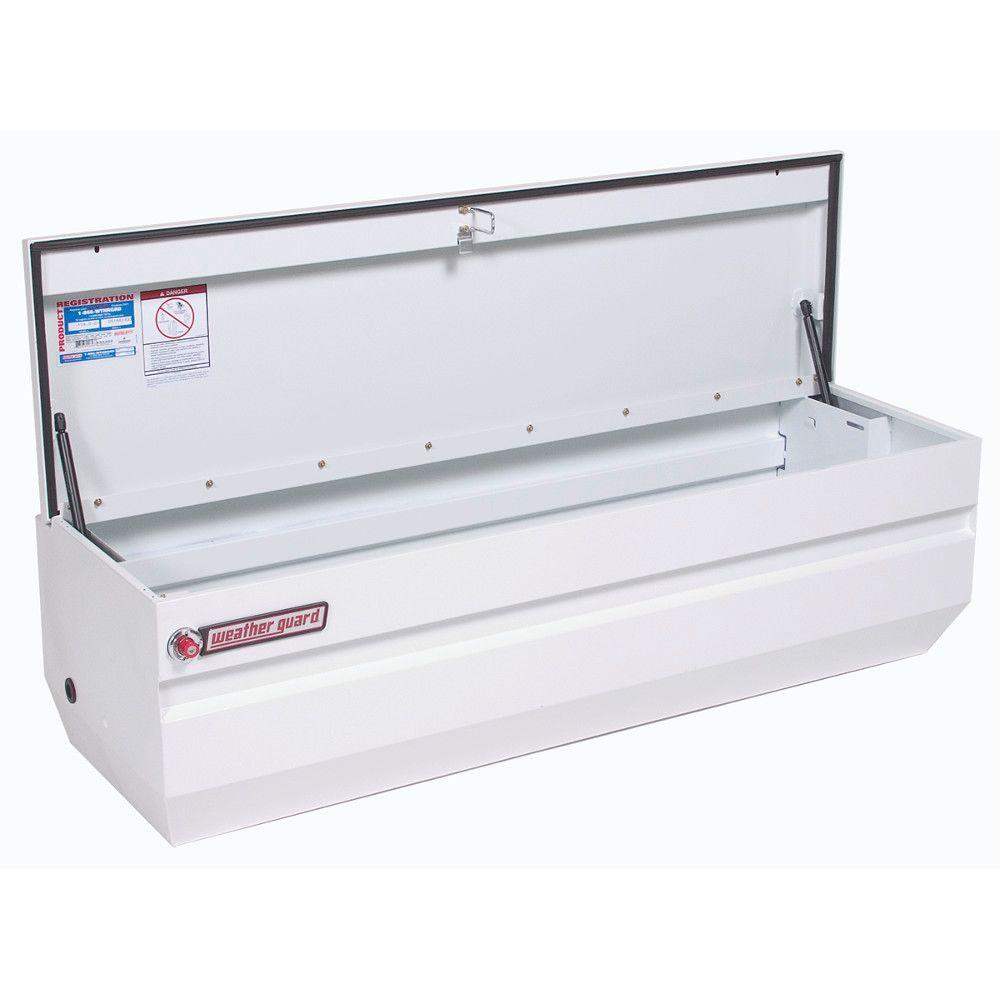 Weather Guard 62 White Steel Full Size Chest Truck Tool Box