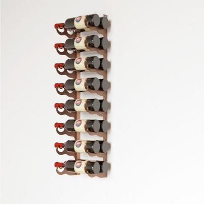 Eagle Edition 16 Bottle Wall Mounted Wine Rack (Double Row)  - Brown