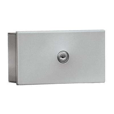 1080 Series Surface Mounted Private Key Keeper with Commercial Lock in Aluminum