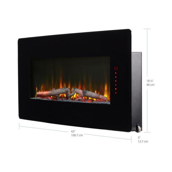 Dimplex Winslow 42 In Wall Mount Tabletop Linear Electric Fireplace In Black Swm4220 The Home Depot