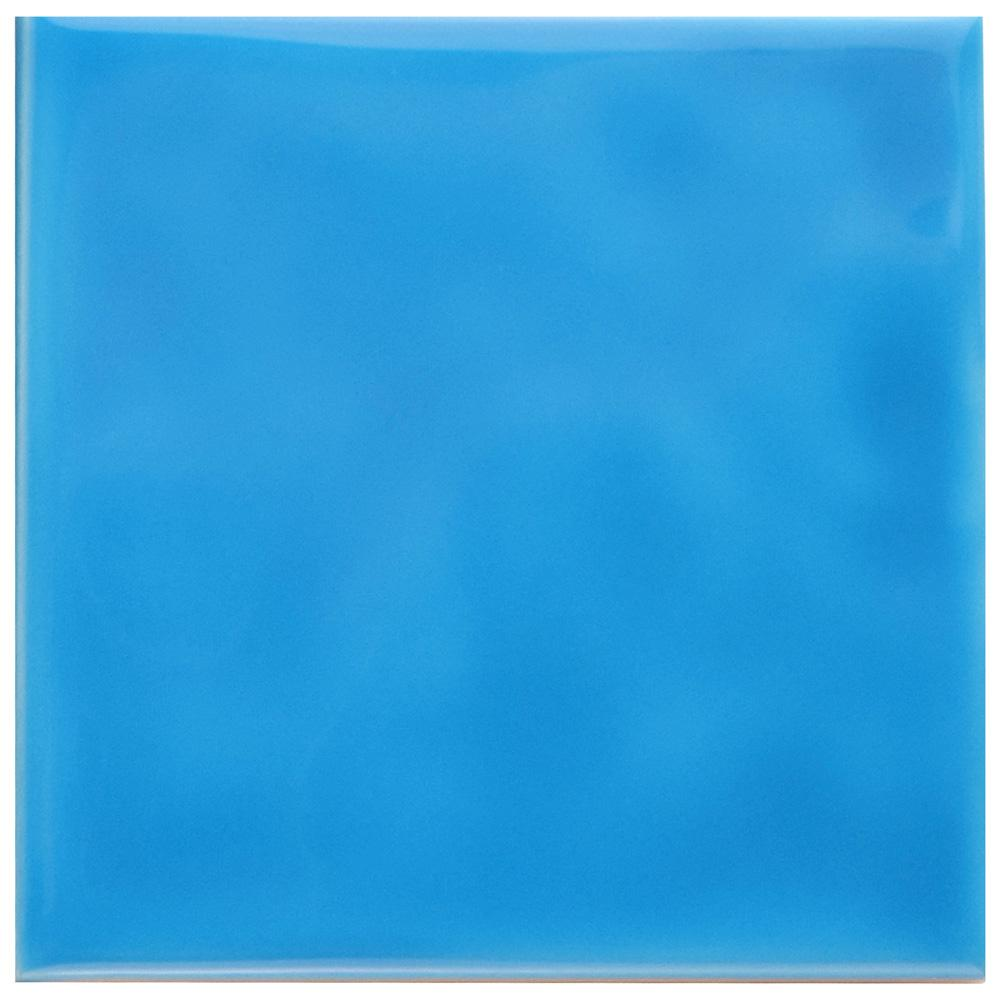 Merola Tile Twist Square Blue Sky 3-3/4 in. x 3-3/4 in. Ceramic Wall ...