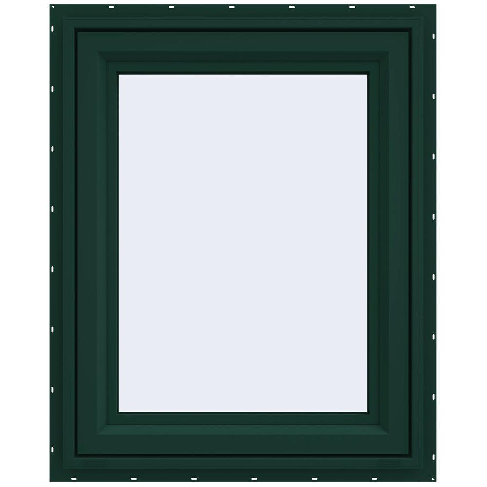 23.5 in. x 29.5 in. V-4500 Series Right-Hand Casement Vinyl Window - Green