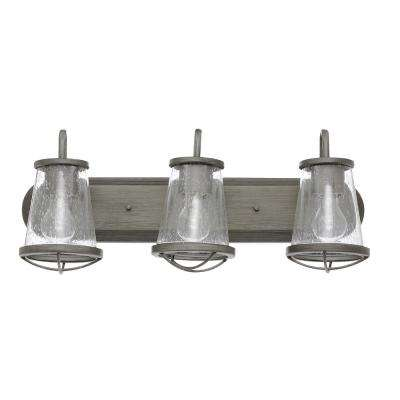 Georgina 3-Light Weathered Iron Vanity Light