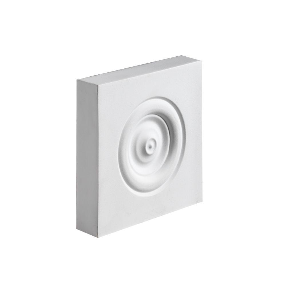 Fypon 7-7/16 in. x 7-7/16 in. x 1-3/16 in. Polyurethane Plinth Block Rosette