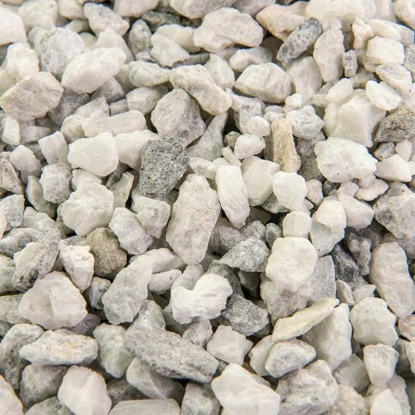 0.50 cu. ft. 3/8 in. White Ice Bagged Landscape Rock and Pebble for Gardening, Landscaping, Driveways and Walkways