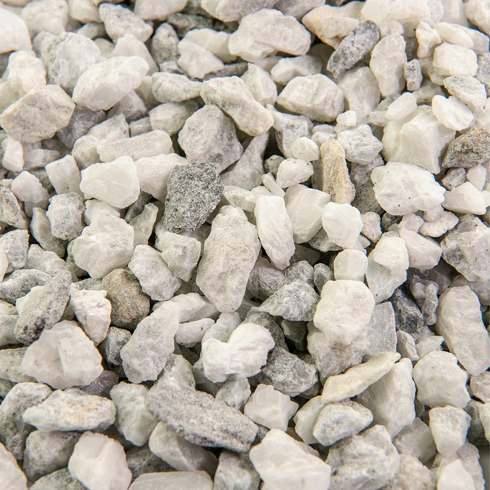 Southwest Boulder & Stone 25 cu. ft. 3/8 in. White Ice Bulk Landscape Rock and Pebble for Gardening, Landscaping, Driveways and Walkways