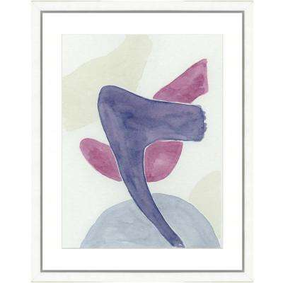 """Pastel watercolor V"" Framed Archival Paper Wall Art (26 in. x 32 in. in full size)"