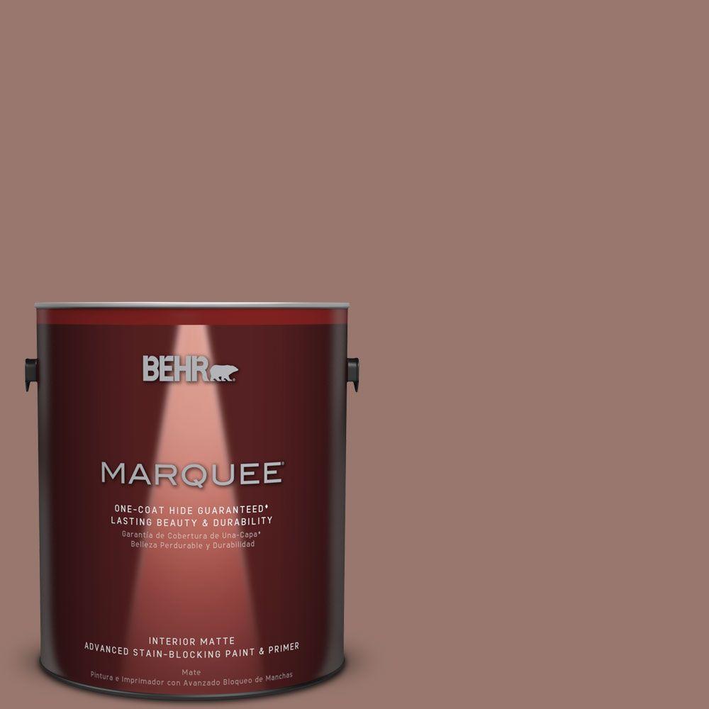 1 gal. #N160-5 Chocolate Delight One-Coat Hide Matte Interior Paint