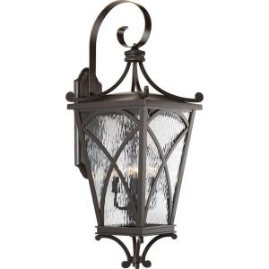 Cadence Collection 4-Light Oil Rubbed Bronze 32 in. Outdoor Wall Lantern Sconce