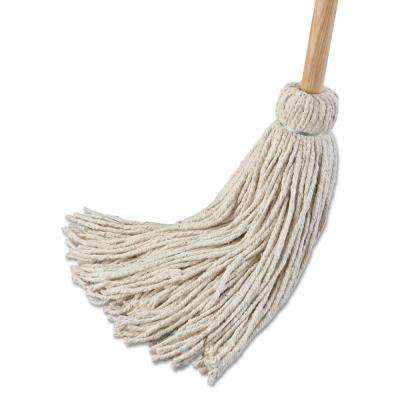 24 oz. Cotton Fiber Head String Deck Mop with 54 in. Wooden Handle (6-Pack)