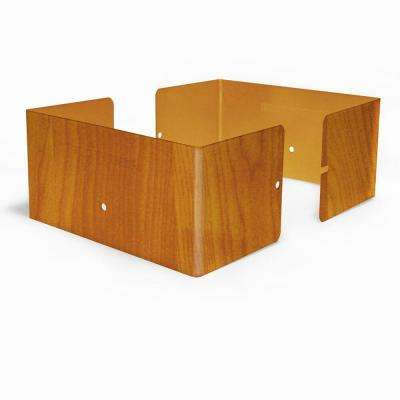 6 in. L x 6 in. W x 1/4 ft. H Redwood Fence Post Guard for Wood or Vinyl