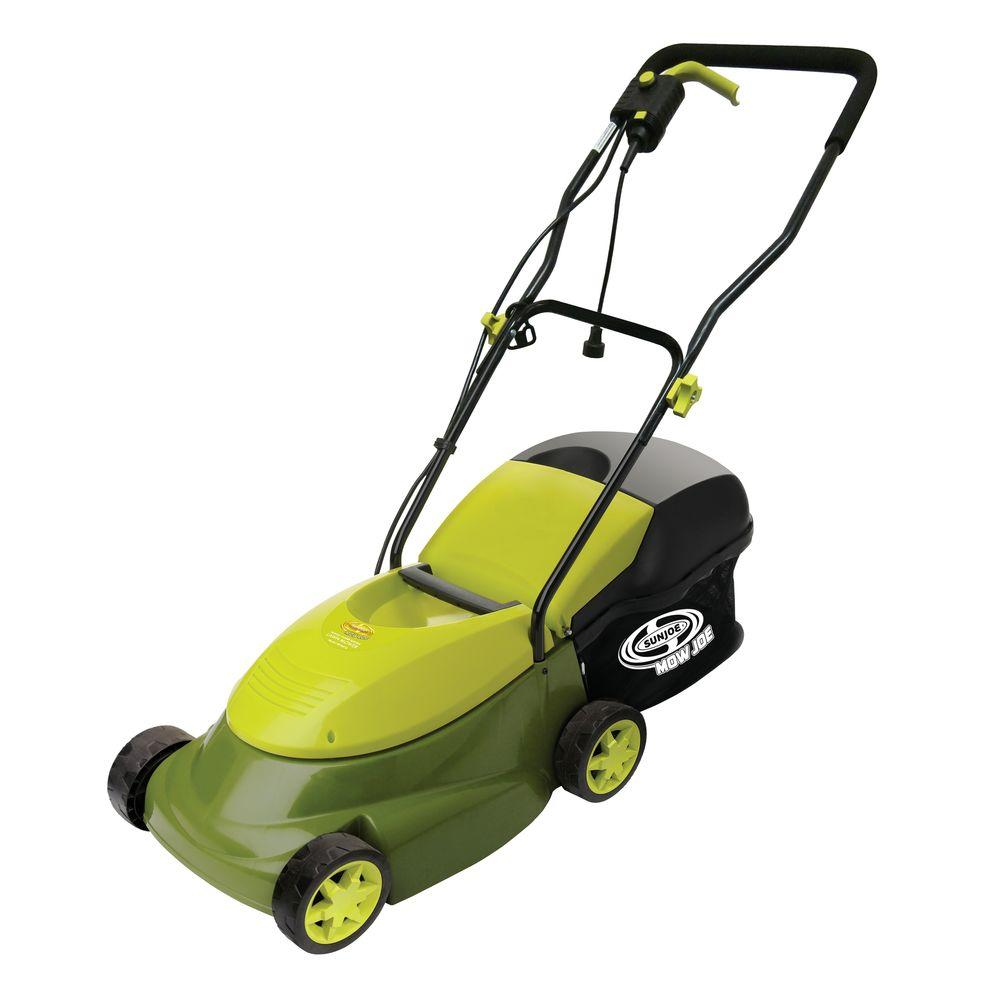Sun Joe 14 In 13 Amp Corded Electric Walk Behind Push Mower With Side Discharge Chute