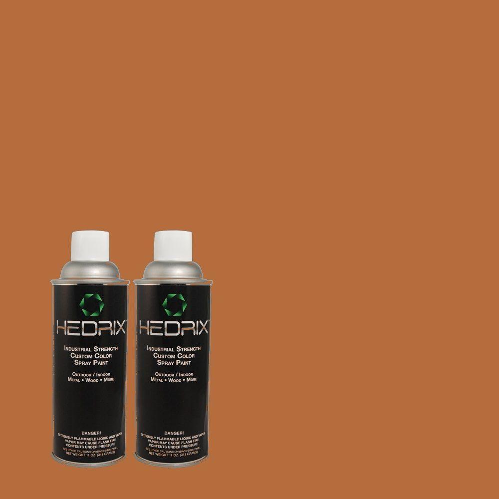 Hedrix 11 oz. Match of PPU3-16 Maple Glaze Low Lustre Custom Spray Paint (8-Pack)